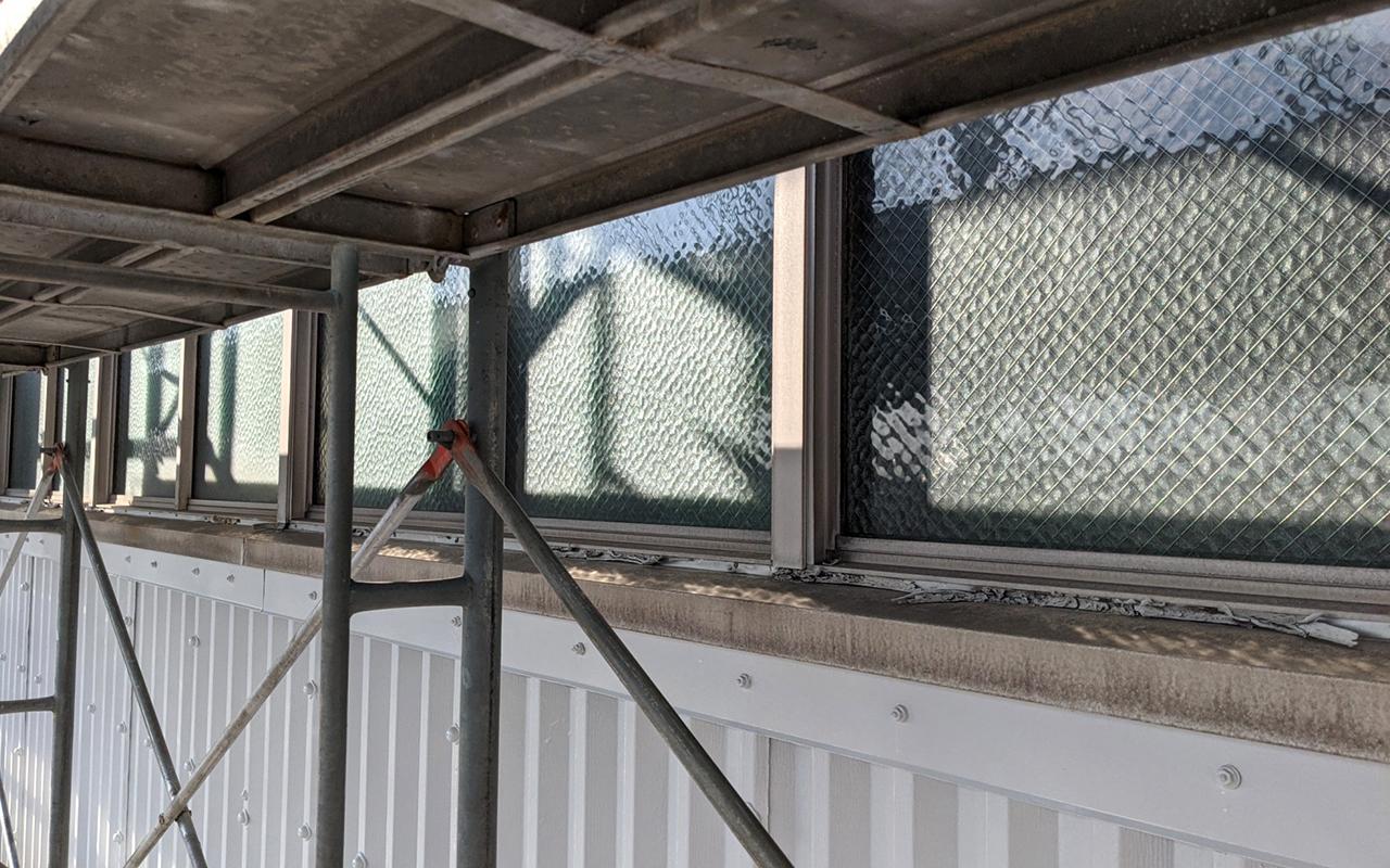 建具廻り面台の張替え、塗装